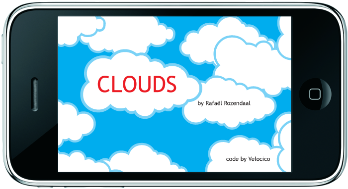 rafael rozendaal clouds app on iTunes store