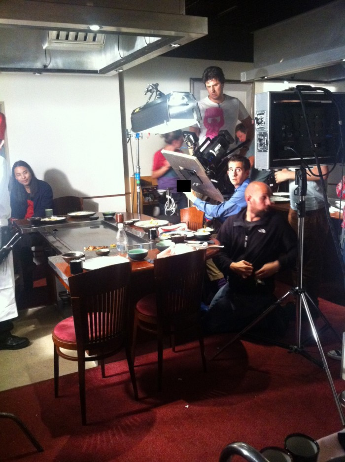 shooting commercial