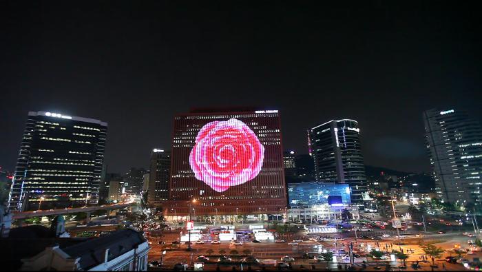 rafael rozendaal seoul square rose