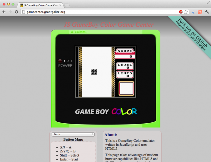gameboy color emulator iphone html5 boy emulator 5438