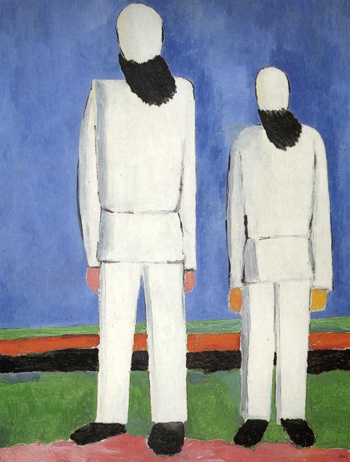 kazimir malevich two male figures